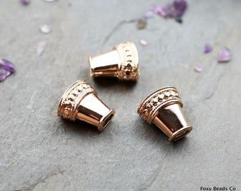Rose gold bead Etsy