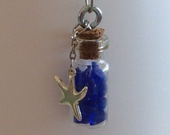 Mini Vial of Blue Sea Glass