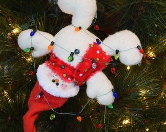 Tangled Snowman Ornament