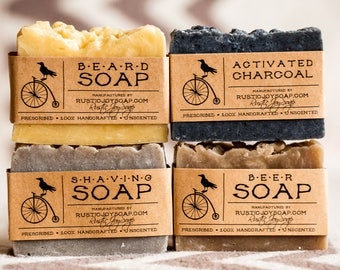Gift for men gift set gift for dad birthday gift for boyfriend for husband charcoal soap beard soap mens gift homemade soap beer soap soap