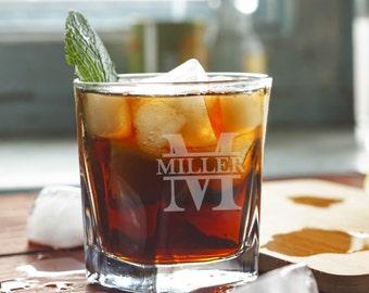Personalized Engraved Whiskey Glass, Rocks Glass, Scotch Glass