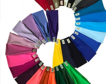 32 SOLID COLORS Spandex Headbands - Something to match any outfit.