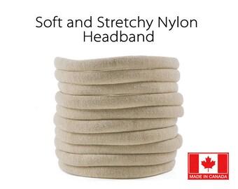 NUDE nylon Headband, Wholesale baby headband, Nylon elastic headband, Wholesale Spandex headband, Stretchy nylon headband, one size fits all