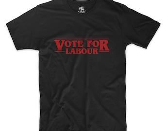Vote Labour Black T Shirt - Support Jeremy Corbyn - Unisex Top Slogan tee t-shirt #ootd #instafashion S M L XL