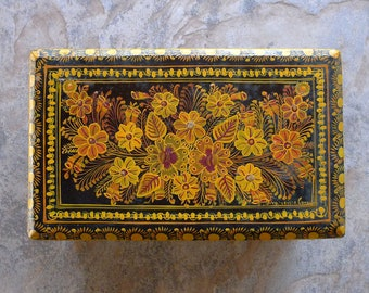 Vintage Laquered Box from Uruapan Mexico