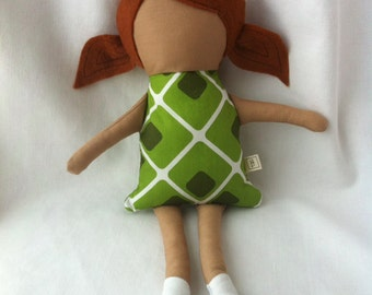Fabric Doll - red head