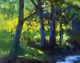 House Creek original oil painting