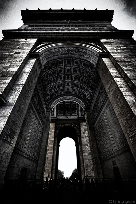Black and White Photography Paris photography Arc De