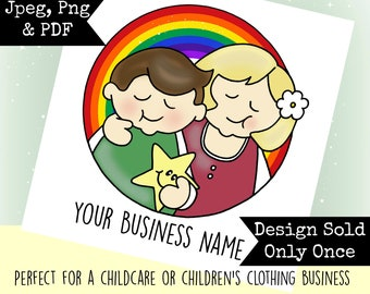 Off The Peg Premade Rainbow Children Childcare Business LOGO DESIGN
