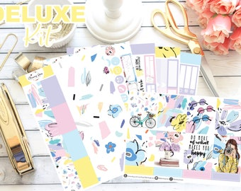DELUXE Spring Fling Collection Weekly Kit || 130+ Planner Stickers || Erin Condren Life Planner (Vertical Layout)