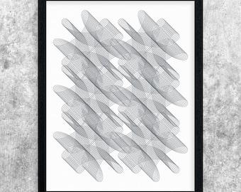 Grey Modern Art, Instant Download Printable Art, Geometric Art Print, Abstract Art Poster, Digital Print, Office Decor, Apartment Wall Art