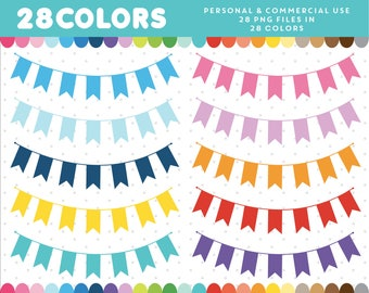 Bunting flag clipart, Banner flag clipart, Bunting banner clipart, Bunting clipart, Banner clipart, Bunting banners, CL-640