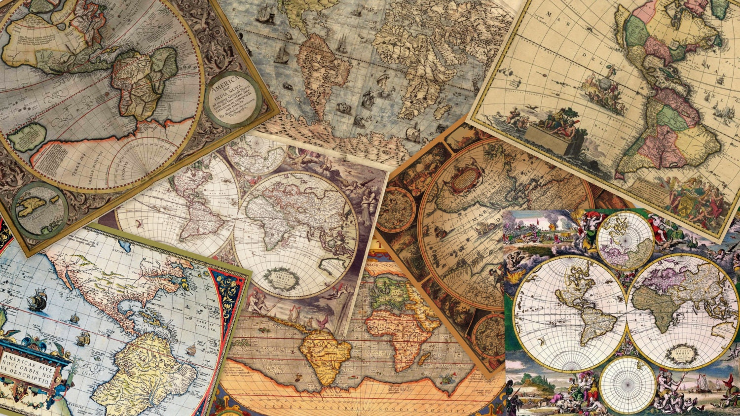 Instant download digital collage vintage maps 40 piece zoom gumiabroncs Gallery