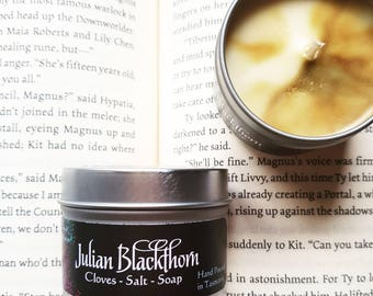 Julian Blackthorn Soy Wax Candle - Cassandra Clare inspired - The Mortal Instruments - The Infernal Devices