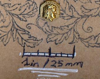 SWANK Alexander the Great Zeus Gold Roman Vintage Lapel Pin Tie Tack Souvenir Hat Pin Jewelry Brooch Badge Button Men's Jewelry