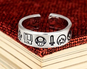 Super Gaming Nostalgia Ring - 1UP - Zelda - Game Controller - Retro Video Games - Gamer Gift - Gifts for Gamers - Video Game Jewelry