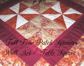 FALL,  QUILT,  PATCHWORK, Wall Hanging,  Table Square,  Topper, Holiday Decor, Home Décor,  Hostess Gift,  Gifts for Women, Autumn Decor