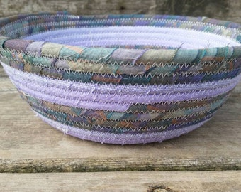 Lilac Bush Fabric Coiled Basket