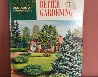 Vintage All About Evergreens book by John Bradshaw