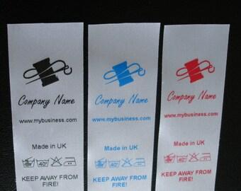 100 Custom made care labels