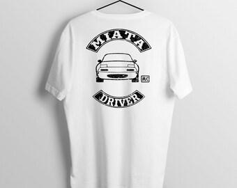 Miata Driver biker style t-shirt mens womens