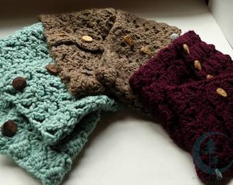 Chunky Pattern Crochet Cowl (various)
