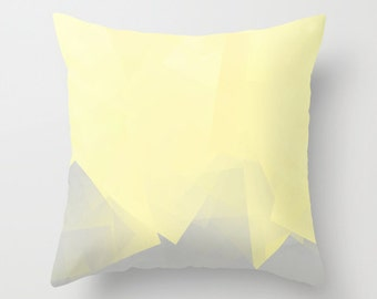 "Throw Pillow Accent Pillow Cover Yellow Pillow Cover Decorative Pillow Cover Home Decor Pale Yellow Decor Cushion Cover 16"" 18"" 20"""