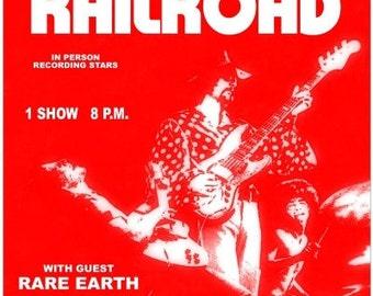 Grand Funk Railroad 1970   Concert POSTER    beautiful!!!!