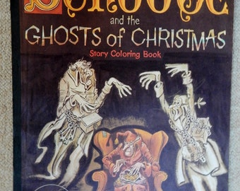 Scrooge and the ghosts of Christmas giant coloring book, a Gravette giant