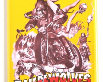 Werewolves on Wheels Movie Poster Fridge Magnet