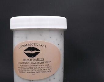 BEACH DAISIES Foaming Bath Whip Sugar Scrub  4 oz Jar