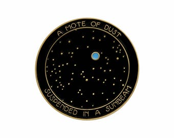 Carl Sagan Pale Blue Dot inspired enamel lapel pin