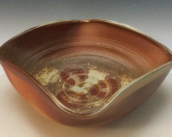 Brown Bowl - Serving Bowl - Handmade Bowl - Fruit Bowl - Center Piece - Wedding Gift - Wood Fired - Handmade Pottery