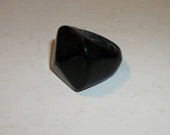 Haitian Black Horn Ring