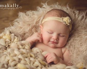 Latte Cream Alpaca Faux Fur Backdrop Photography Prop  Background - Photo Prop- Newborn Nest