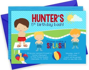 Pool Party Invitation, Pool Party Invite, Pool Invitation, Pool Birthday Party, Pool Party, Pool Party Printables, Splash Party, Pool //57