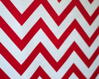5 feet x 6 feet Red Chevron Fabric Photography Backdrop