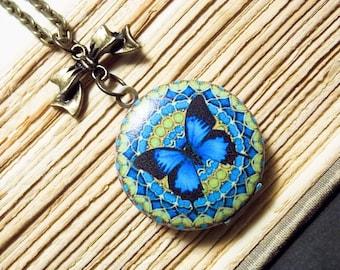 Blue Mandala Locket