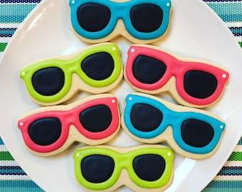 One Dozen Sunglasses Sugar Cookies