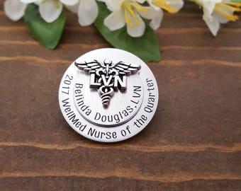 LVN Nursing Pin For Pinning Ceremony    LVN Pin   Gift For Nurse Graduate   Nurse Gifts   Nurse Pin   Nursing Pinning Ceremony   LVN Pins