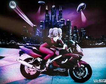 8 x 10 of Harley Quinn my cosplay Chastity Von Fae