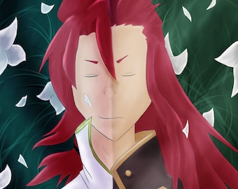 Tales of the Abyss Asch and Luke Art Print