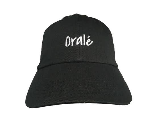 Orale - Polo Style Ball Cap (Black with White Stitching)