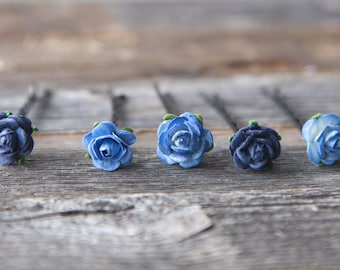 10mm each Flower Hair Pins set of 5 Wedding Pins Bobby Pins