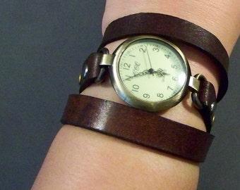 Leather Watch-Bracelet Watch-Friendship Gift-Wrist Bracelet-Women Watch-Wrap Watch-Wrap Bracelet-Wrist Watch Woman-Vintage Women Watches
