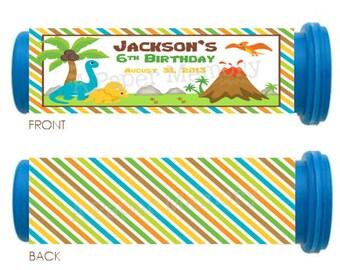 Dinosaurs Mini M&M Tube Wrappers DIY Printable