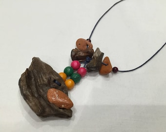 Driftwood necklace and beads