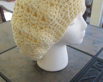Winter Stylish Slouch Hat - Cream