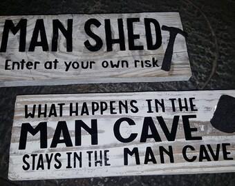Rustic Mens hanging plaques
