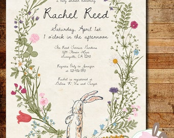 Printable The Velveteen Rabbit Baby Shower or 1st Birthday Invitation